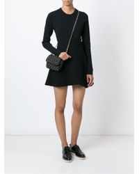 M Missoni - Black Knitted Cross Body Bag - Lyst