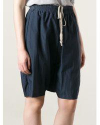 Rick Owens - Blue Drawstring Shorts - Lyst
