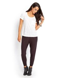 Forever 21 - Black Contemporary Stretch Knit Slouchy Joggers - Lyst
