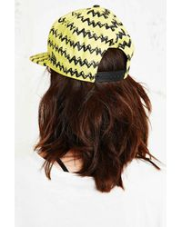 Rodnik X Peanuts - Charlie Brown Snapback Cap In Yellow - Lyst