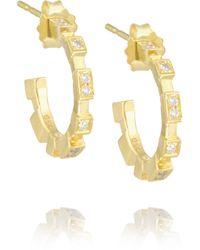Maria Black | Metallic Garbo 18-Karat Gold Diamond Hoop Earrings | Lyst