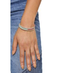 Shashi - Gray Jane Stretch Bracelet - Lyst
