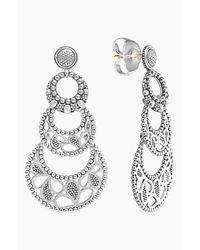 Lagos | Metallic Sterling Silver Voyage Small 3-Hoop Floral Earrings | Lyst