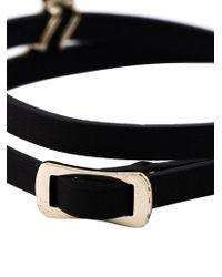 McQ - Black Swallow Triple Wrap Bracelet - Lyst