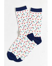 Urban Outfitters - Blue Small Dots Crew Sock for Men - Lyst
