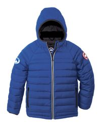 Canada Goose - Blue Sherwood Hooded Quilted Jacket - Lyst