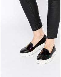 ASOS - Black Dash Loafer Trainers - Lyst