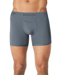 Tommy John | Gray 'second Skin' Trunks for Men | Lyst