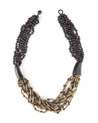 Eskandar - Black Metal And Acai Necklace - Lyst