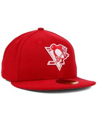 KTZ - Red Pittsburgh Penguins C-dub 59fifty Cap for Men - Lyst
