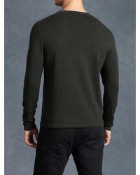 John Varvatos - Gray Ls Crewneck Sweater for Men - Lyst