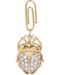 Aurelie Bidermann | Metallic Diamond Gold Scarab Beetle Charm | Lyst