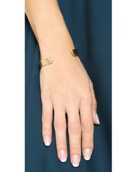 Kacey K - Metallic Kk Open Inital Bracelet - D - Lyst