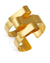 Herve Van Der Straeten | Metallic Ribbon Cuff Bracelet | Lyst