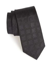 Calibrate | Gray 'bomeo' Dot Silk Tie for Men | Lyst
