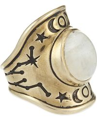 Pamela Love | White Constellation Signet Ring | Lyst
