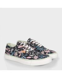 Paul Smith | Women'S Black Palette Floral Print 'Balfour' Trainers | Lyst