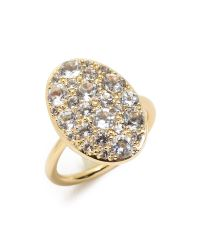 Elizabeth and James - Metallic Constance Ring - White Topaz/gold - Lyst