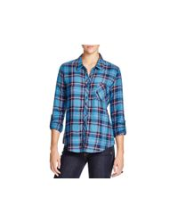 Soft Joie - Blue Anabella Plaid Shirt - Lyst