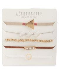 Aéropostale | Multicolor Geo Accent Bracelet 5-pack | Lyst