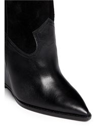 Ash - Black 'jude' Leather Wedge Ankle Boots - Lyst