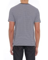 Sunspel - Blue Striped Cotton T-Shirt for Men - Lyst