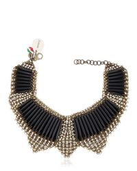 Sveva Collection | Black Margot Chocker | Lyst