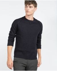 Zara | Blue Felt Sweater for Men | Lyst