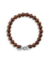 David Yurman - Metallic Spiritual Beads Bracelet with Bronzite - Lyst