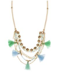 Lonna & Lilly | Metallic Gold-tone Multi-layer Tassel Statement Necklace | Lyst