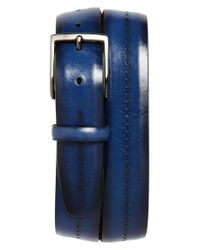 Canali | Blue Brogue Leather Belt for Men | Lyst