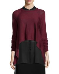 Eileen Fisher - Red Fisher Project Merino Cropped Top - Lyst