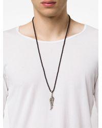 Roman Paul | Black Diamond Wing Necklace for Men | Lyst