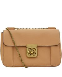 Chloé | Brown Medium Taupe Elsie Shoulder Bag | Lyst