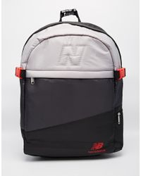 7231bcba3eb New Balance Backpack With 3 Panels in Black for Men - Lyst