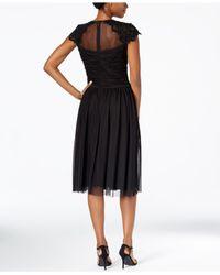Alex Evenings | Black Petite Illusion Embellished A-line Dress | Lyst