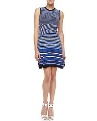 Nanette Lepore - Blue Jet Set Mixstripe Dress - Lyst
