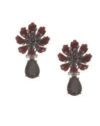 Marchesa | Red Flower Drop Earrings | Lyst