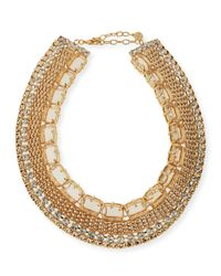 R.j. Graziano | Metallic Crystal Cleopatra Necklace | Lyst