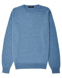 Jaeger - Blue Cashmere Crew Neck Sweater for Men - Lyst