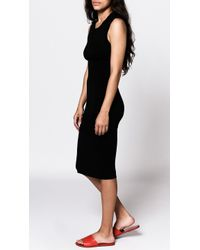 Blq Basiq - Black Sleeveless Midi Dress - Lyst