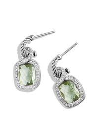 David Yurman - Green Labyrinth Drop Earrings With Prasiolite & Diamonds - Lyst