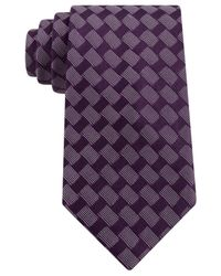Sean John - Purple Rectangle Neat Tie for Men - Lyst