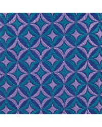 Turnbull & Asser - Slim Circles And Diamonds Blue And Lilac Silk Tie for Men - Lyst
