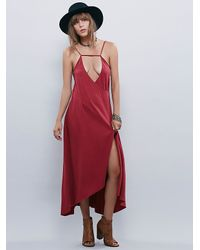 Free People | Red Monique Wrap Dress | Lyst