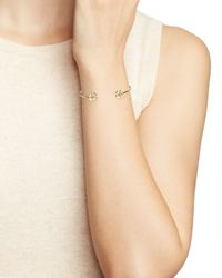 kate spade new york | Metallic Four Leaf Clover Bangle | Lyst