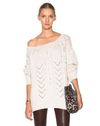 Ryan Roche - White Cashmere Hand Knit Pullover - Lyst