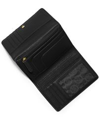 Michael Kors | Black Michael Fulton Medium Trifold Wallet | Lyst