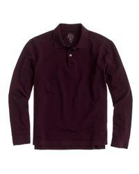 J.Crew - Purple Long-sleeve Classic Piqué Polo Shirt for Men - Lyst