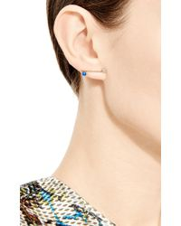 Sehti Na - Metallic Lapis And Diamond Bar Earring - Lyst